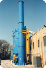 Air cleaning system for bitumen production