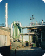 Fumes cleaning system bituminous membranes